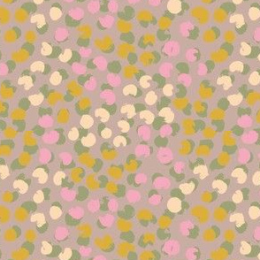 Painted spots pastel with pink
