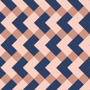 Geometric diamonds pink and blue