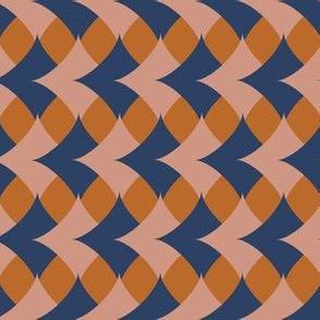 Geometrics diamonds tan and blue
