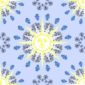 ring around the sun blue