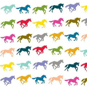 galloping horses - rainbow