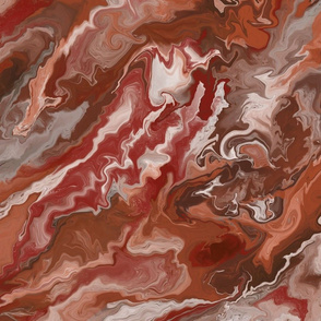 Red Fluid Marble