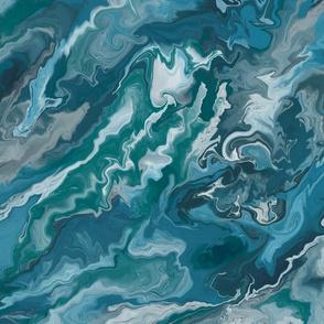 Aqua Fluid Marble