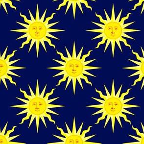 summer sun dark navy blue