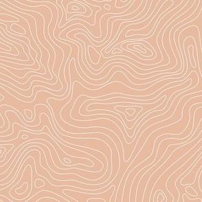Fingerprint of the Land - Coral Pink