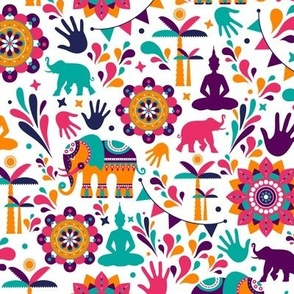 Colorful India Elephants