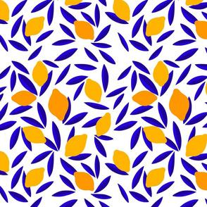 Blue & Yellow Pop Lemon pattern - M