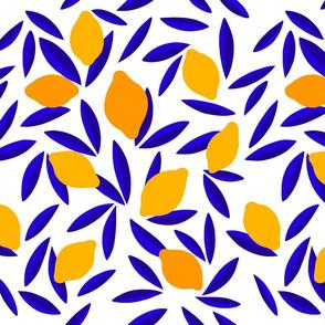 Blue & Yellow Pop Lemon pattern - L