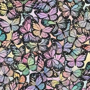 Pastel Rainbow Butterflies Pattern