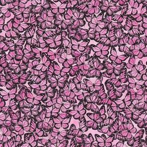 Small Pink Butterflies Pattern