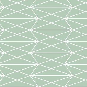 Diamond Grid - Olive Green - vertical