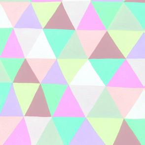 GEO Triangles Pastel Mint