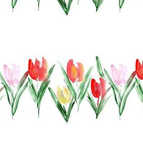 Bloom in Amsterdam - watercolor tulips