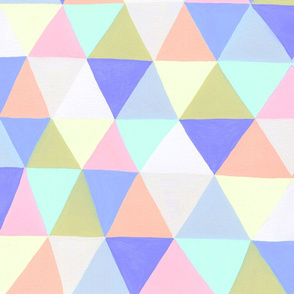 GEO Triangles Pastel Cornflower