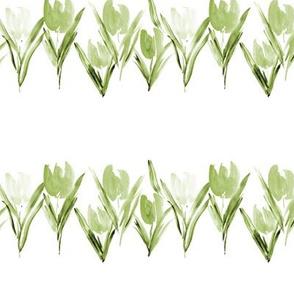 Jade green bloom in Amsterdam - watercolor tulips p287