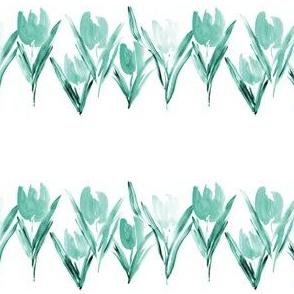 Emerald bloom in Amsterdam - watercolor tulips