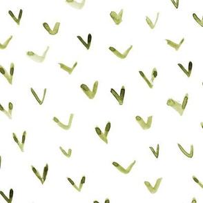 Khaki vibes - watercolor brush stroke check marks for modern home decor, bedding, nursery - scandi tonal green