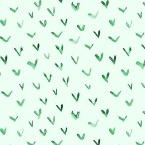 Jade green blue vibes - watercolor check marks p288