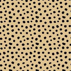 Spring boho minimal polka dots spots basic texture neutral nursery butter yellow