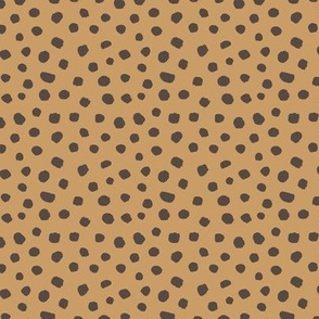 Spring boho minimal polka dots spots basic texture neutral nursery caramel brown charcoal gray