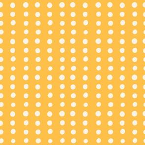 White Polka Dots Yellow Background
