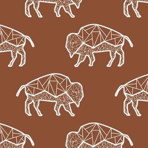 Bison Geometric Lines on Rust