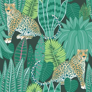 "Jungle Leopard (8"") - green"