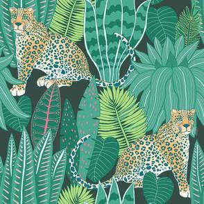 "Jungle Leopard (12"") - green"