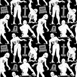 Cemetery Zombies Black & Grey