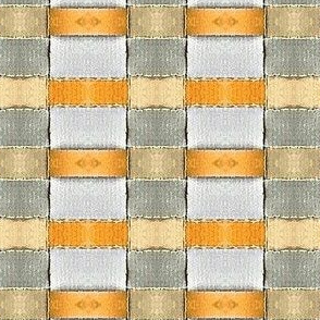 Orange and White check
