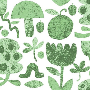Garden Cut-outs in Sage