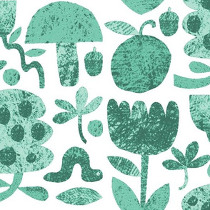 Garden Cut-outs in Mint