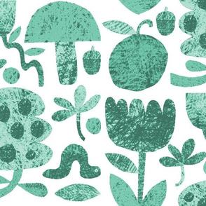 Garden Cut-outs in Mint