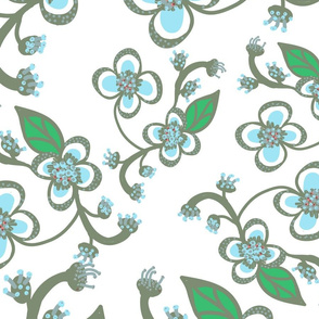 Desert FlowerBlue Sage Green large