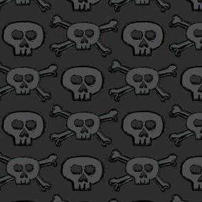 Pirate's Life - Subtle Skulls and Crossbones - Med