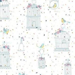 Vintage Birdcage Freedom