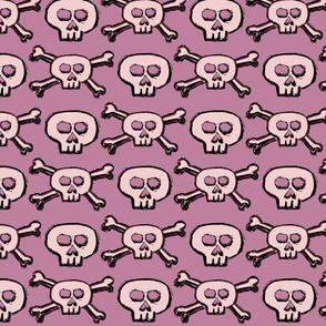 Pirate's Life - Pink Subtle Skulls and Crossbones - Medium