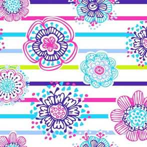 Whimsical Anaya Floral Stripes
