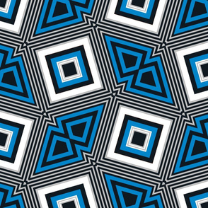 The Blue the Black and the Silver: Dancing Squares