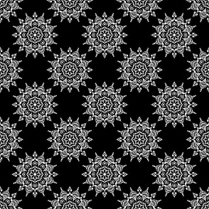 Noir Mandala White on Black