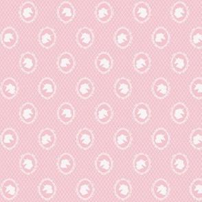 Micro Unicorn Cameo Portrait Pattern on Blush Pink