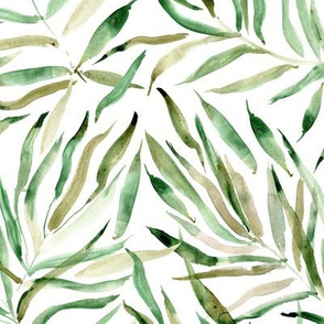 Palm springs - watercolor tropical leaves for modern natural home decor, bedding, nursery - jungle leaf pattern