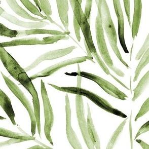 Khaki palm springs - watercolor tropical leaves p289