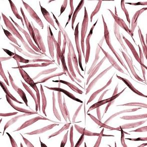 Marsala palm springs - watercolor tropical leaves p289