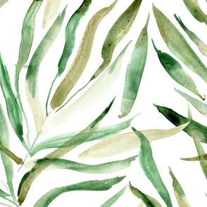palm springs - large scale - watercolor tropical leaves p289
