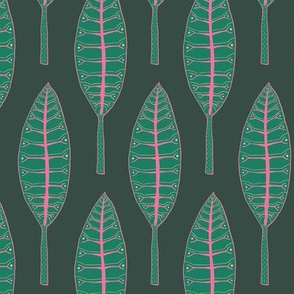 "Jungle Leaves (6"") - green"