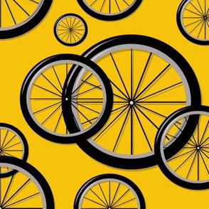 Bike Wheels Yellow