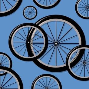Bike Wheels Blue