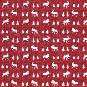 "3/4"" moose trot // red linen"
