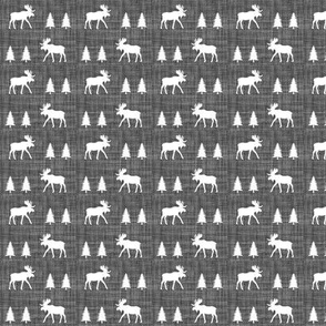 "3/4"" moose walk // on charcoal linen"
